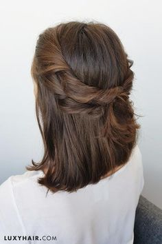 double twist short hair style
