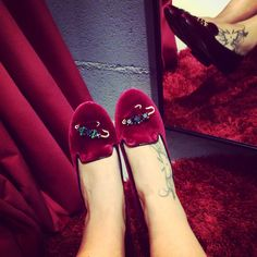 Chiara Ferragni FW14 Collection ❤️  #clerigosin #opticalconceptstore #porto #passeiodosclerigos #shoes  #shopping #chiaraferragnicollection #chiaraferragnishoes #cfslippers #velvetslippers #newcollection