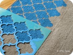 DIY: Stencil a Rug with Paint