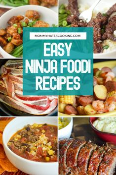 Get ready for dinner with these EASY Ninja Foodi Recipes, these can all be made in the Ninja Foodi utilizing a variety of the functions, like Air Crisp or Air Fryer, Slow Cooker, and Pressure Cooker.even Bake! Ninja Recipes, Healthy Recipes, Free Recipes, Fish Dinner, Ground Turkey Recipes, Pressure Cooker Recipes, Air Fryer Recipes, Easy Dinner Recipes, Crisp