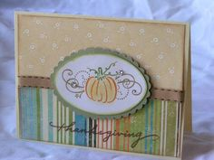 Thanksgiving card by paperprincess1973 - Cards and Paper Crafts at Splitcoaststampers