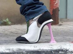 Looks like she stepped in gum..............
