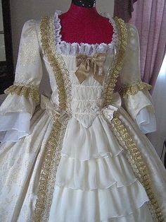 FOR ORDERS ONLY Custom Made 1700s Colonial Dress by MissLisa1867