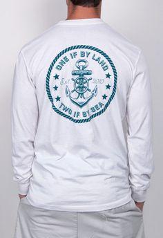 The Revere Long Sleeve Pocket Tee Shirt - White