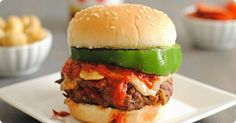 Deluxe Pizza Burgers was a dinner recipe selection in the Cozi Family Dinner Club, where we share family dinner recipes and then talk about how they went.   Easy, delicious and a family-favorite!
