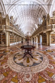 I just want a small subtle library with staircases and gilt bannisters and books.lots of books Mafra National Palace, Portugal (by Nuno Trindade) (All things Europe) Beautiful Architecture, Beautiful Buildings, Art And Architecture, Beautiful Places, Library Architecture, Beautiful Pictures, Beautiful Library, Dream Library, Open Library