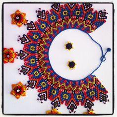 Mexican Jewelry, Ethnic Jewelry, Beaded Jewelry, Beaded Necklaces, Beaded Collar, Stylish Jewelry, Beading Tutorials, Bead Crafts, Bead Art