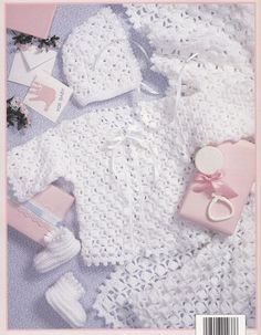 Baby Layettes Crochet Patterns - 3 Lacy Sets Afghans Booties