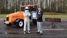"Honda engineers aren't the only group fixated on making various lawn care machines fast. The crew at BBC's ""Top Gear"" strapped The Stig into its modified tractor, appropriately called the track-tor, and happened to set a Guinness World Record for fastest tractor in the world. The BBC made the announcement on Thursday ahead of Sunday's episode of ""Top Gear,""…"