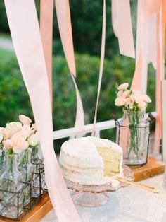 dessert table idea http://www.weddingchicks.com/2013/09/11/peach-and-gray-wedding/