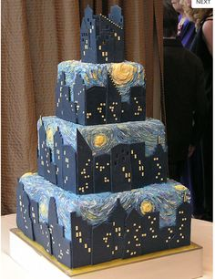 Starry Night Cake by Gateaux Inc., Minneapolis, MN.