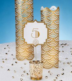 Art Deco Table Number and Decorative Luminary at Joann.com
