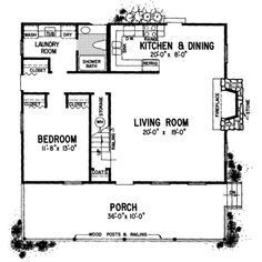 Country Style House Plan 2 Beds 2 Baths 1309 Sq Ft Plan 72 104 In Law House Basement House Plans Country Style House Plans