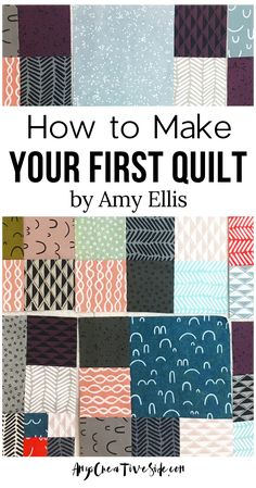 Beginner Quilt Patterns, Quilting For Beginners, Quilting Tips, Quilting Tutorials, Machine Quilting, Quilting Projects, Quilting Designs, Sewing Projects, Sewing Crafts