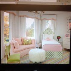 Preppy girls bed room.