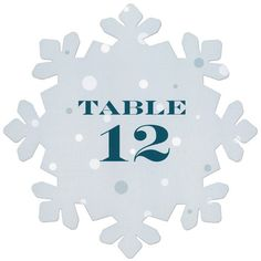"Add an extra wintery detail to your next event with 10""snowflake-shaped table numbers. It's also the ideal size for menus, programs, scrapbooks and banners.r"