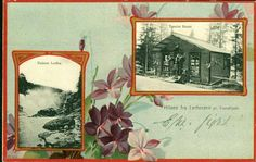 Sør-Trøndelag fylke Trondheim  LERFOSSEN, TRONDHJEM. 2-bilders montasjekort postgått 1905.