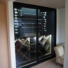 VintageKeeping Glass Wine Cellar, Wine Glass, Chalet Interior, Wine Racks, Facade, Divider, Display, Room, Furniture