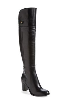 Free shipping and returns on Louise et Cie 'Navaria' Leather Boot (Women) at Nordstrom.com. A sleek, streamlined silhouette elevates an essential over-the-knee boot cut from rich, lightly-glazed leather and set on a stable half-moon heel.
