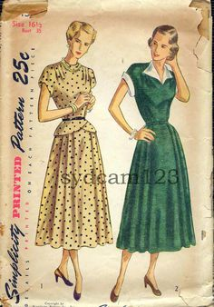 40's dress  how about that cross over peplum