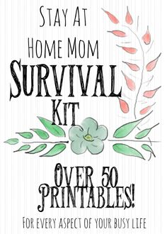 The Stay at Home Mom Survival Kit is bigger than ever with over 50 Printables that reach every aspect of your busy life!