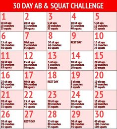 Month long workout plan! Stick to it!  #fitness #exercise