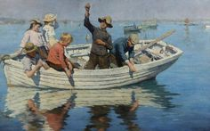 Chadding on Mount's Bay, 1902  - Stanhope Alexander Forbes (Irish, 1857-1947) Newlyn School