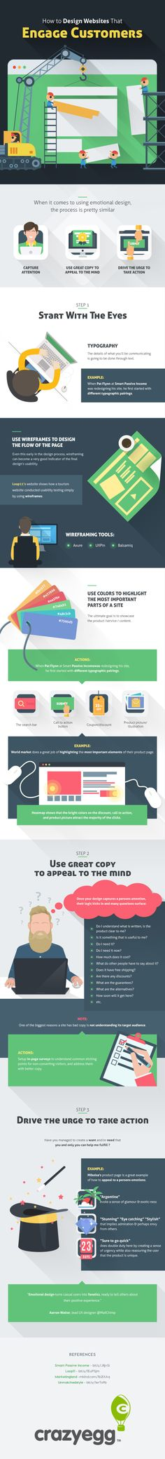 3 Steps to Create an Engaging Website Your Visitors Will Love #WebDesign #Infographic