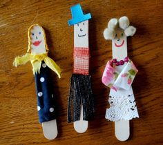 I see a family of popsicle stick people like these in our future ....
