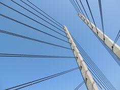 Ponte, Arquitetura, Construção, Céu, Água, Aço, Metal