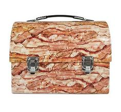 bacon lunch box. what if it was magical and turned all of ur trash into bacon?