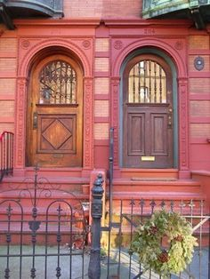 Items similar to Red Doors Architecture in Fairmount Art Museum Philadelphia Neighborhood Brick Wood Stone Photograph on Etsy Arch Doorway, Entrance Doors, Cool Doors, Unique Doors, Portal, Door Knockers, Door Knobs, When One Door Closes, Brick And Wood