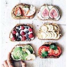 Yummy toasts, helathy, fruit