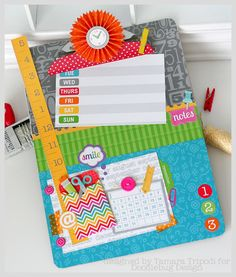 Altered clipboard featuring Doodlebug Design Take Note collection - Designed by Tamara Tripodi
