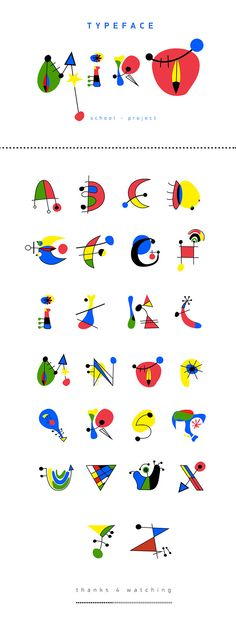 Miro Typeface inspiration - school project 2012