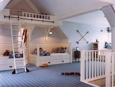 Fantastic boys' retreat under the attic eaves -- pure charm and style!  LOVE IT!