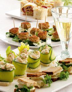 En lækker kogebog med opskrifter på små godbidder, som enten kan serveres som en let frokost eller som snacks før en middag.