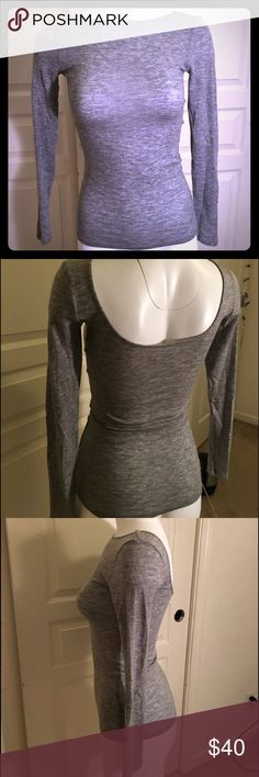Club Monaco - Cachemire, Wool (fitted, warm) Italian wool (65%), Polyester (30%), Cashmere (5%). Great for winter/Autumn time. A sexy yet casual grey top. Worn in once, in great condition. Washed once by hand and air dried. Club Monaco Tops Tees - Long Sleeve