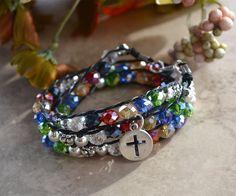 Swarovski Crystal Salvation Wrap Bracelet by OurGardenofbBeaden, $25.00
