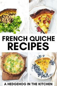 French Vegetarian Recipes, French Chicken Recipes, French Cooking Recipes, Easy French Recipes, Italian Recipes, Cheesy Recipes, Quiche Recipes, Brunch Recipes, French Quiche Recipe