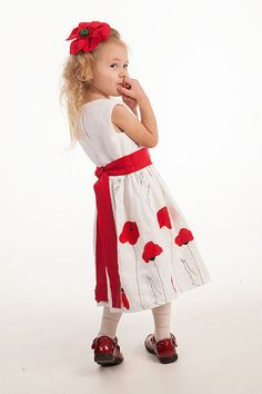 Wedding party flower girl dress natural linen girl by Graccia, $80.00