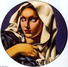 Madonna, Oil by Tamara De Lempicka (1898-1980, Poland)