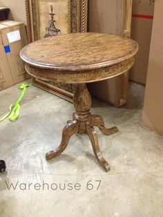 Wooden End Table here at Warehouse 67! Only $389! www.warehouse67design.com