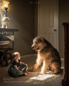 A girl and her dog by AdrianMurray Family Photography #InfluentialLime