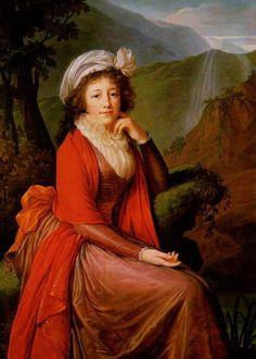 1793 Portrait de la comtesse Maria Theresia Bucquoi by Marie Louise Elisabeth Vigée-Le Brun