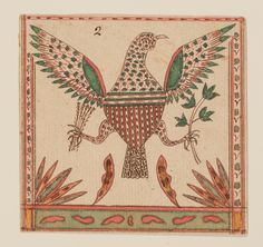 Drawing of an American eagle, attributed to Johann Adam Eyer, probably Monroe County, Pa., ca. 1800. Museum purchase with funds provided by the Henry Francis du Pont Collectors Circle 2013.31.53