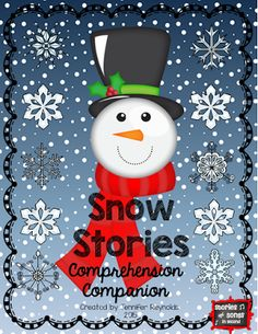Reading In A Winter Wonderland Blog Hop--This Comprehension Companion pack was designed to be used with Will Hillenbrand's Snowman's Story, but can be adapted for use with any of your favorite snowman picture books! $2  Language Arts