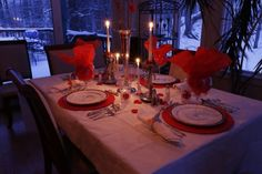 Valentines Day, Dinner Tablescape by Lisa 2014