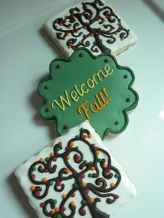Welcome Fall cookies
