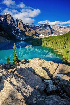 Moraine Lake at Banff National Park. #Canada